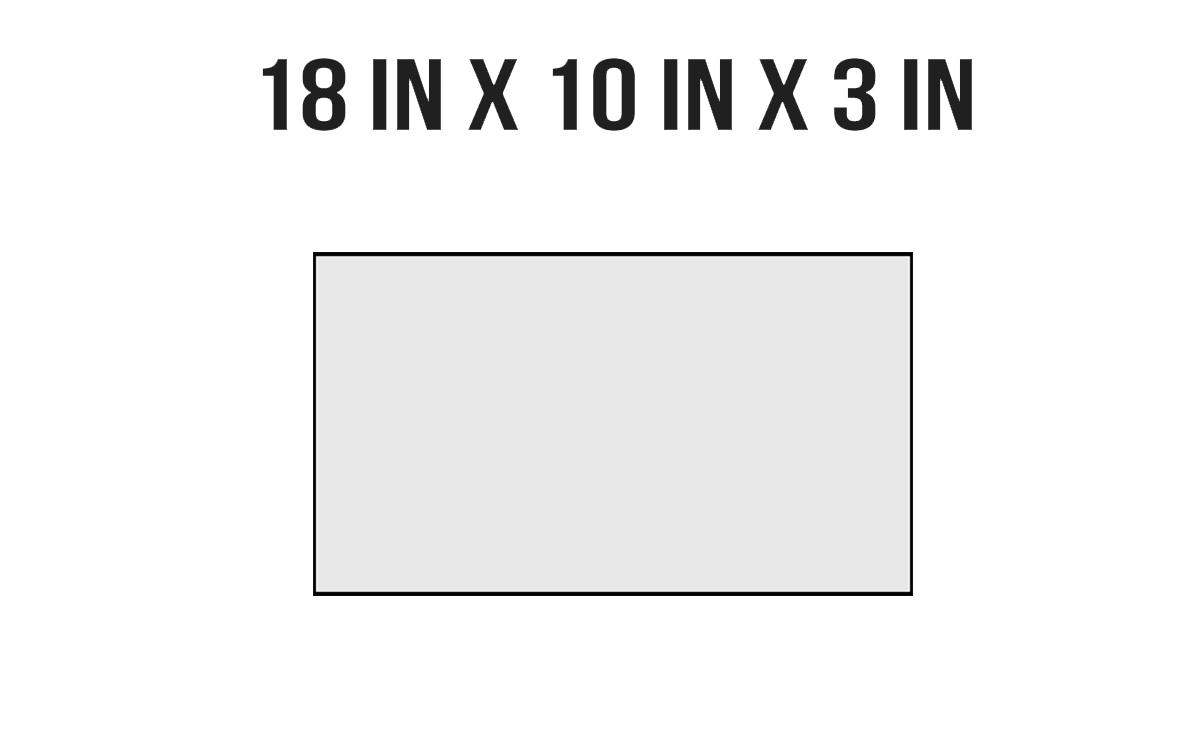 18in X 10in X 3in