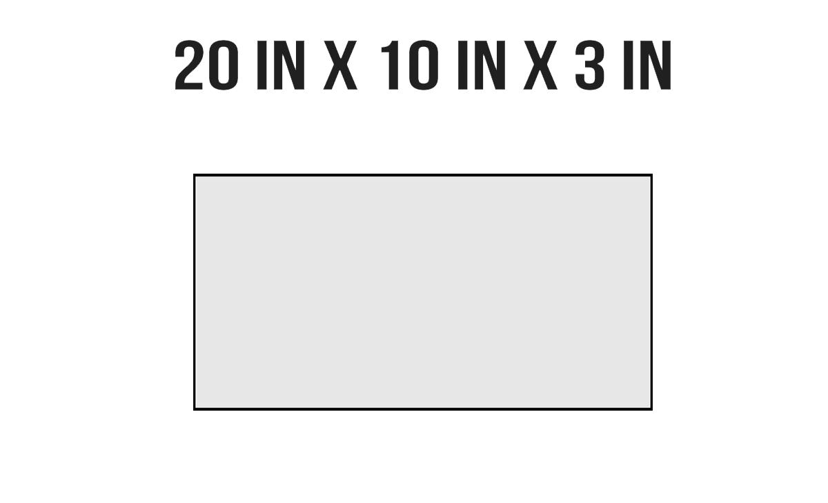 20in X 10in X 3in
