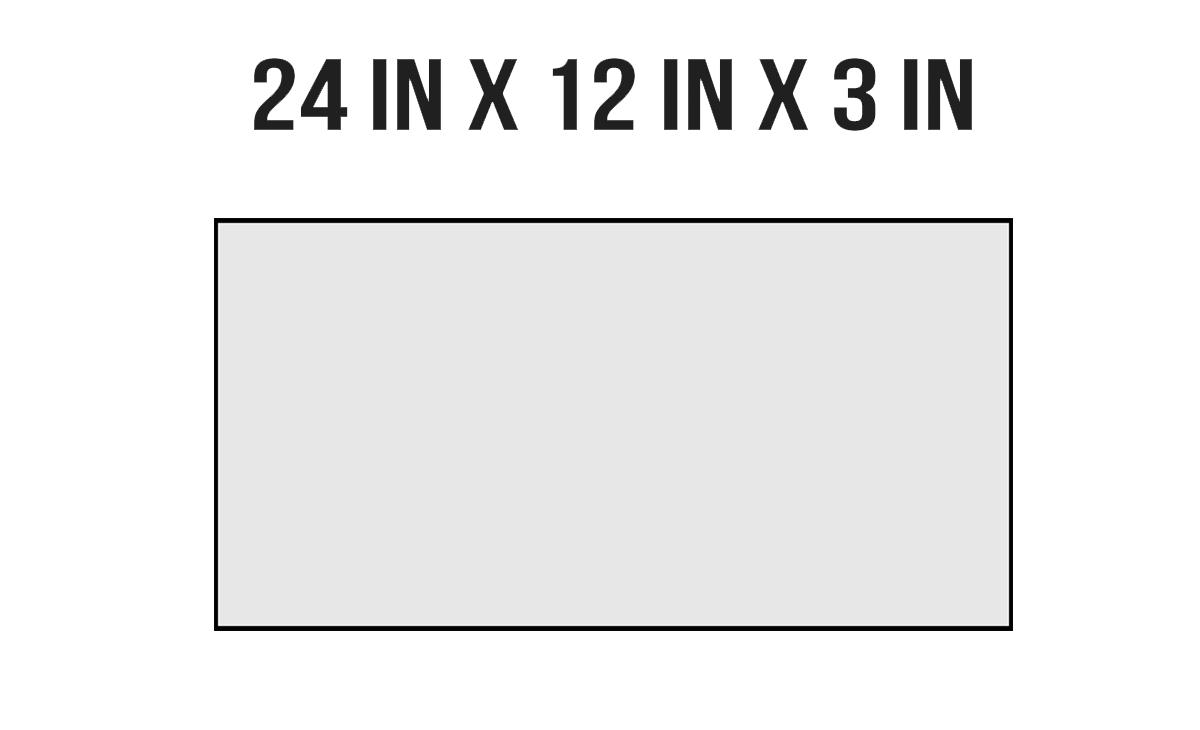 24in X 12in X 3in